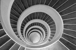 Upward spiral (black and white)