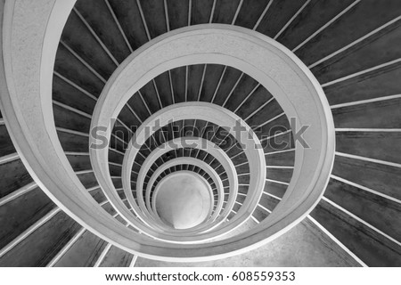 Upward spiral (black and white)
