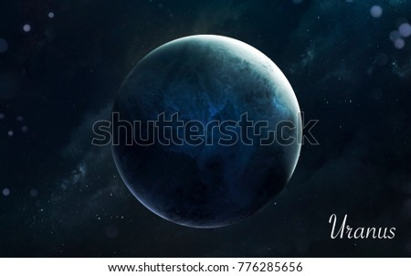 Uranus. Awesome quality planets of solar system. Perfect science image in 5K. Elements of this image furnished by NASA