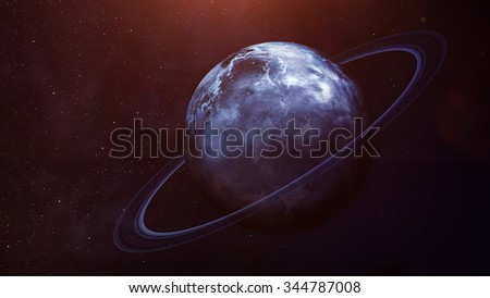 Uranus - High resolution best quality solar system planet.This image elements furnished by NASA.