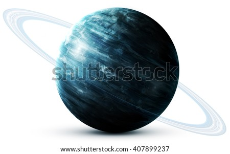Uranus - High resolution 3D images presents planets of the solar system. This image elements furnished by NASA