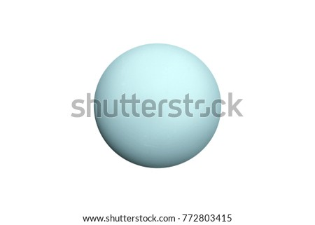 Uranus planet isolated on white. Elements of this image furnished by NASA #772803415