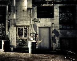 Urban alley scene