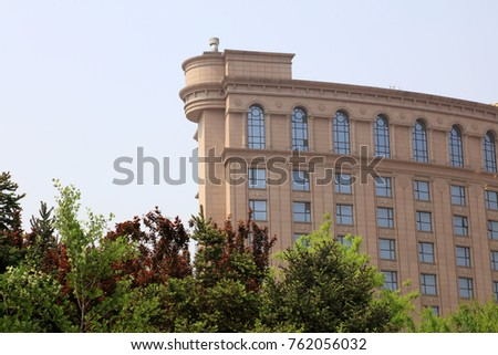 Urban architectural scenery, Tangshan, China