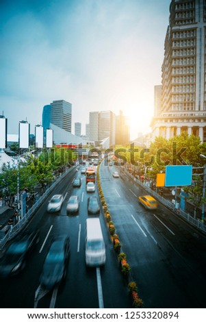Urban Architecture and Road Traffic Transportation #1253320894