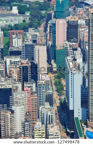 Urban architecture in Hong Kong in the day