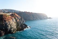 Urban area of Valparaíso on the edge of a cliff