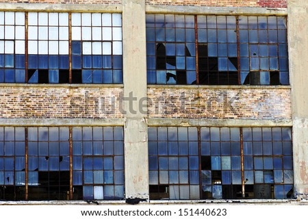 Urban Automotive Blight - Abandoned Automotive Factory - Worn, Broken and Forgotten I