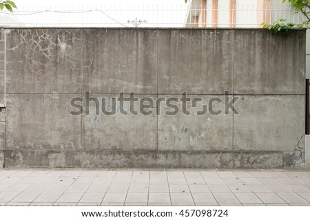 Shutterstock Urban background. Empty street wall and pavement