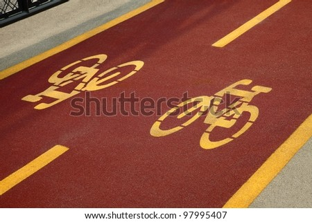 Urban bicycle lane