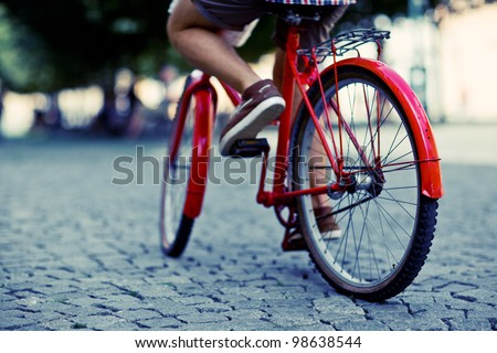 urban biker - stock photo