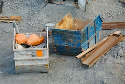 Urban construction site building project