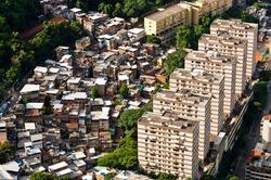 Urban Contrasts of Rio de Janeiro, Slums and Condo Buildings