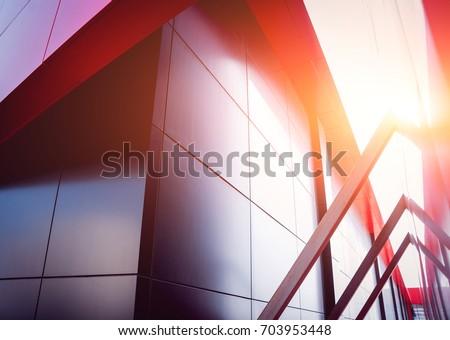 Urban geometry background. Modern architecture