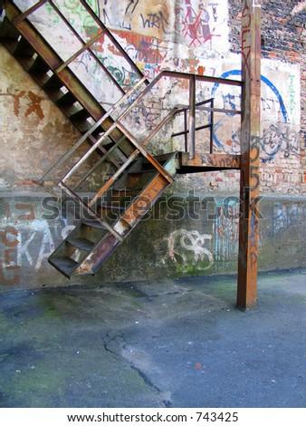 Urban graffiti stairs