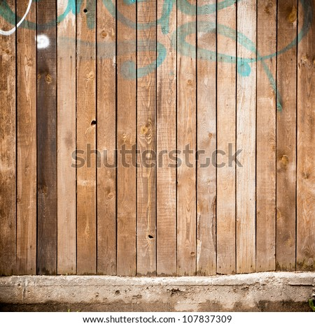 Urban grungy wooden wall, may be used as background or texture - stock photo