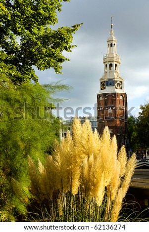 Urban landscape in Amsterdam, The Netherlands