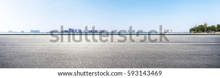 Urban landscape road