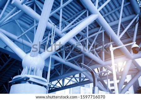 Urban modern steel structure building part