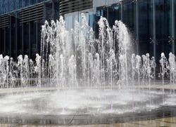 Urban public fountain - Lodz,Poland