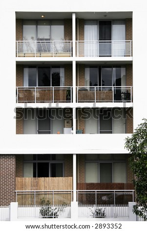 Urban Residential Apartment Building With White Facade In Sydney, Australia