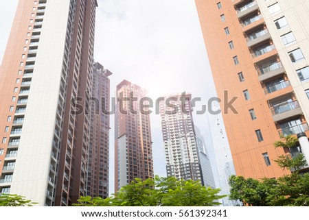 Urban residential buildings