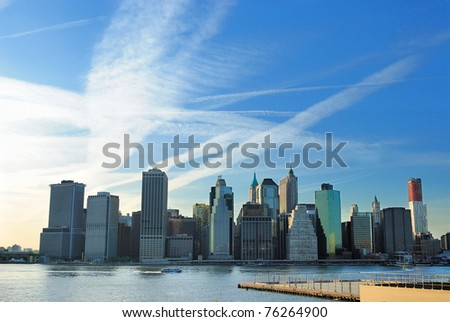 Urban scenic of downtown Manhattan