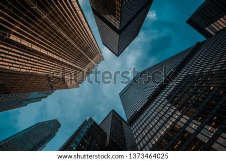 urban skyline; business center of big city; #1373464025