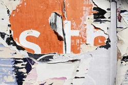 urban street ghetto rugged raw torn ripped grunge abstract street poster