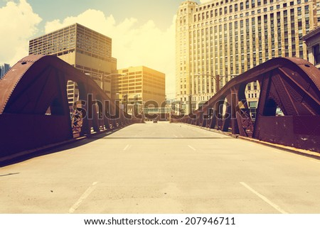 urban style   bridge in city...