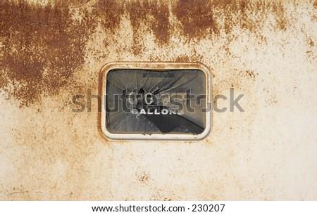 Urban texture 20. Broken gas pump meter and rust.