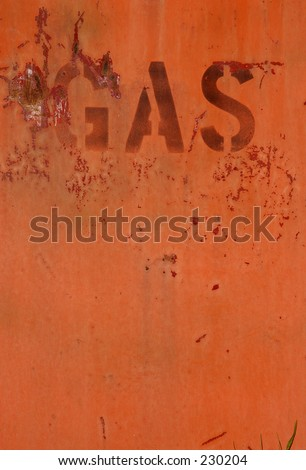 Urban texture 17. Old gas station pump GAS signage.