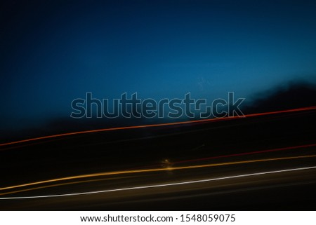 Urban Traffic Light Trails - Light trails from transport. Abstract background