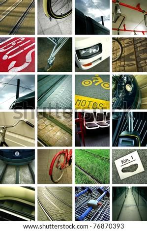 Urban transportation collage