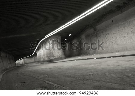 urban tunnel - stock photo