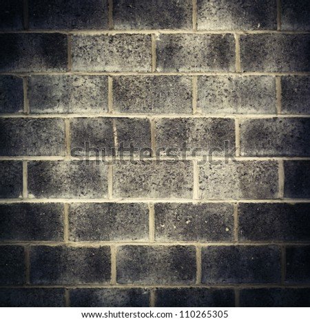 Urban wall background with vignette