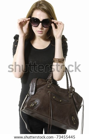 Lifestyle - Pagina 5 Stock-photo-urban-young-fashion-model-in-sunglasses-with-modern-a-handbag-73455445