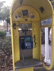 Urbex phonecell in Greece, Rhodes