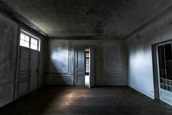 URBEX - Scary room with door half open and few light