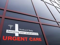 Urgent care medical  building and signage
