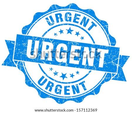 Urgent Grunge Stamp - stock photo