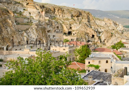 Urgup town with cave houses, Turkey
