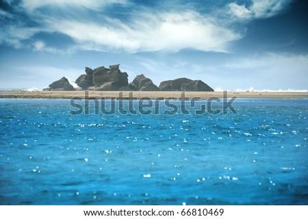 Urlaubsstimmung, Lagune am Meer