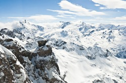 Urner Alps, view from top of Titlis mountain, Obwalden, Switzerland