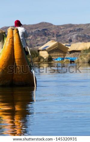 Uros Floating Islands, Lake Titicaca, Peru #145320931