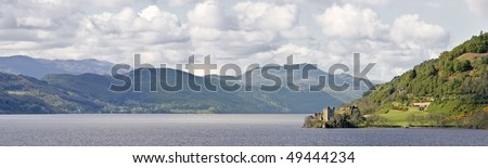 Urquhart Castle at Loch Ness - stock photo