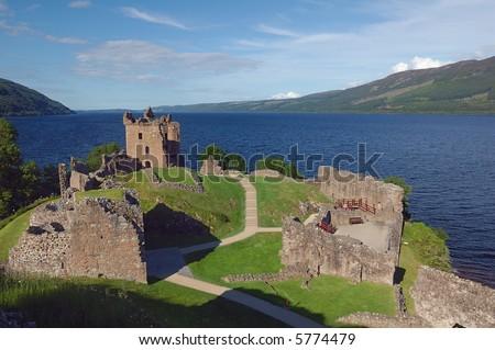 Urquhart Castle in Loch Ness Scotland
