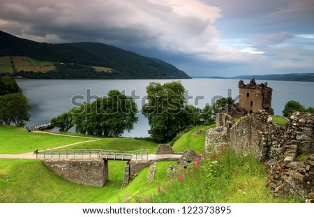 Urquhart Castle in Scotland.