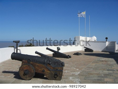 Uruguay, Artigas Fort. With a strategic overview of Montevideo Bay & the muddy La Plata river waters mixing with the Atlantic Ocean, this fort was also under Spanish, Portuguese & Brazilian control.