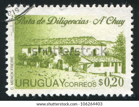 URUGUAY - CIRCA 1995: stamp printed by Uruguay, shows City Post Office, circa 1995